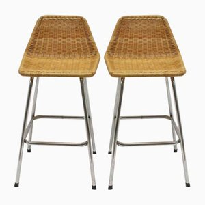 Vintage Bar Stools by Dirk van Sliedregt for Rohé Noordwolde, 1969, Set of 2