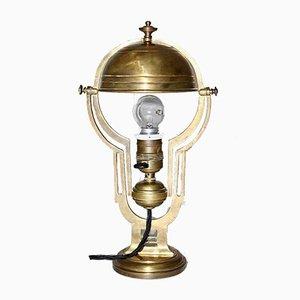 Jugendstil Messing Tischlampe, 1900er