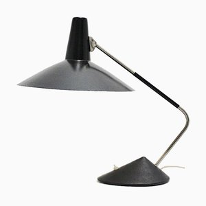 Mid-Century Modern Black Table Lamp, 1950s