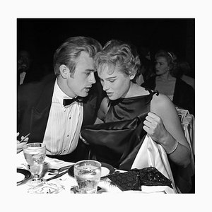 James Dean & Ursula Andress Silver Gelatin Resin Print Framed in White by Michael Ochs Archive