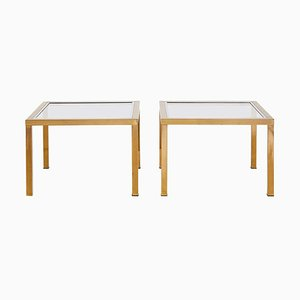 Mid-Century Brass Side Tables, 1970s, Set of 2