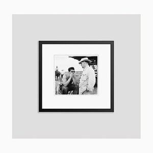On Set of Giant Silver Gelatin Resin Print Framed in Black by Frank Worth