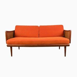 Teak & Cane Model FD 451 Sofa by Peter Hvidt & Orla Mølgaard-Nielsen for France & Søn / France & Daverkosen, 1960s
