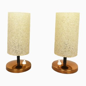 Table lamps with Granulate Shades, 1960s, Set of 2