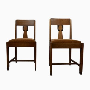 Art Deco Dining Chairs, Amsterdam School, Set of 2