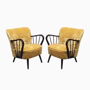 Dänischer Mid-Century Sessel aus Buchenholz mit Senfgelbem Bezug, 1960er