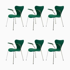 Model 3207 Living Room Set by Arne Jacobsen for Fritz Hansen, 2002, Set of 6