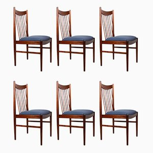 Brazilian Rosewood Side Chairs by Arne Vodder for Sibast, 1960s, Set of 6