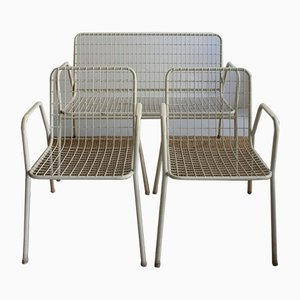 Set da giardino vintage in cavo metallico, set di 3