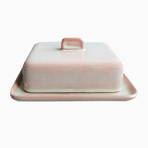 Ceramic Butter Dish by Martha Katzer for Karlsruher Majolika, 1942