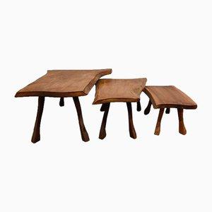 Vintage Brutalist Nesting Tables, 1960s, Set of 3