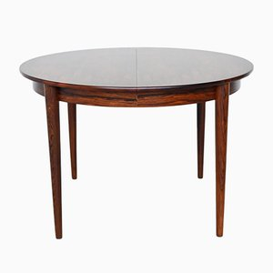 Oval Modern Rosewood Dining Table from MSE Møbler Torring , 1960s