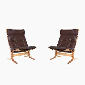Sieta High Back Lounge Chairs by Ingmar Relling for Westnofa, 1960s, Set of 2