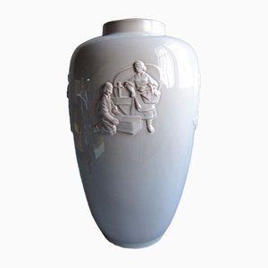 Large Ceramic Vase from Karlsruher Majolika, 1950s