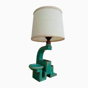 Keramik Bauhaus Lampe von Karlsruher Majolika, 1920er