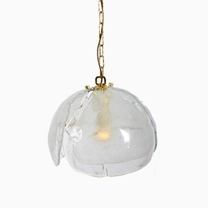 Brass Hanging Lamp with Murano Glass Elements from Kaiser Idell / Kaiser Leuchten, 1960s