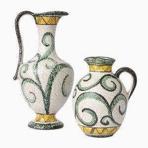 Handbemalte Vasen von Ruscha, 1950er, 2er Set