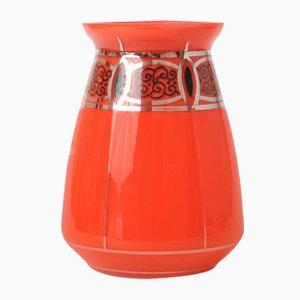 Antique Red Tango Glass Vase from Loetz