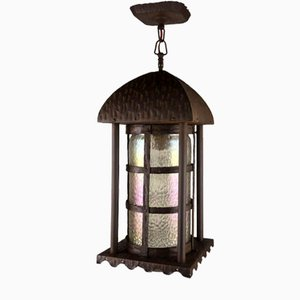 Antique Art Nouveau Outdoor Lantern Lamp, 1910