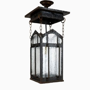 Antike Jugendstil Laternenlampe für Außenbereich oder Korridor, 1910