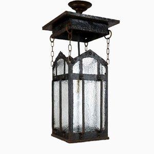 Antique Art Nouveau Outdoor or Corridor Lantern Lamp, 1910