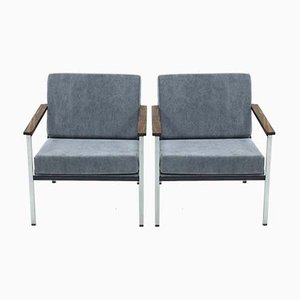Rosewood 1453 Armchairs by Coen de Vries for Gispen, 1968, Set of 2