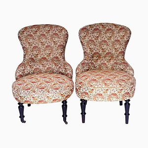 Antique Castle Armchairs, Set of 2