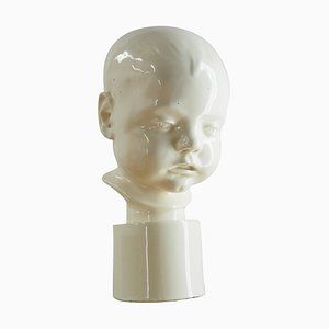 Art Deco Porcelain Bust of Child, 1930s