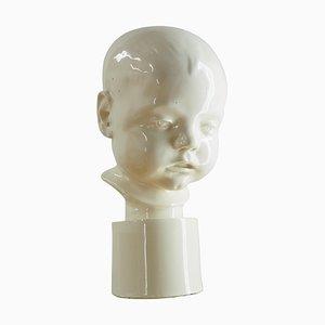 Buste d'Enfant Art Déco en Porcelaine, 1930s