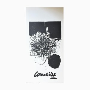 Lithographic Poster by Guillaume Corneille, 1960