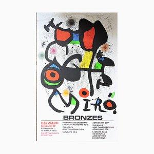 Affiche Lithographique en Pierre de Bronzes par Joan Miro, 1960s