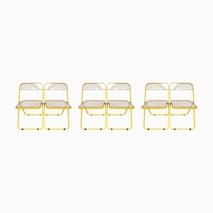 Limited Edition Plia Chairs by Giancarlo Piretti for Castelli, 1970s, Set of 6