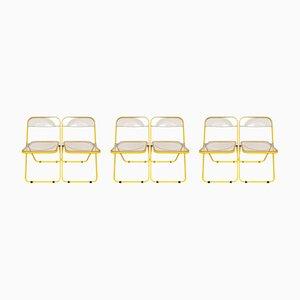 Limited Edition Plia Stühle von Giancarlo Piretti für Castelli, 1970er, 6er Set