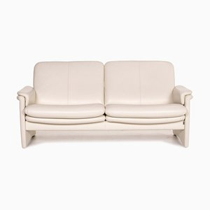 Cream Leather City 2-Seat Sofa from Erpo