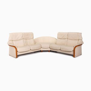 Cream Leather Eldorado Corner Sofa by Kein Designer for Stressless