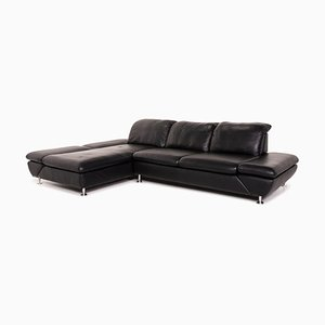 Black Leather Taoo Corner Sofa from Willi Schillig