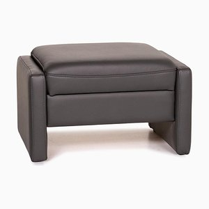 Grey Leather Recero Ottoman from Mondo