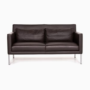 Dark Brown Leather 2-Seat Sofa from Walter Knoll
