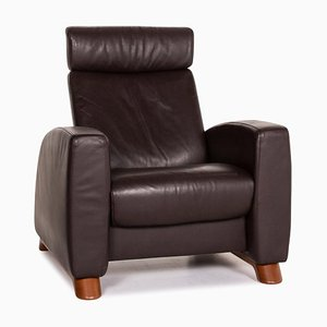 Dark Brown Leather Arion Armchair from Stressless