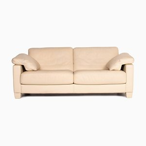 Beige Leather DS 70 3-Seat Sofa from de Sede