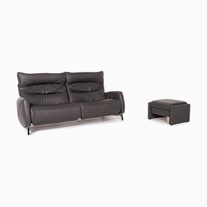 Anthracite Grey Fabric Recero 2-Seat Sofas from Mondo, Set of 2