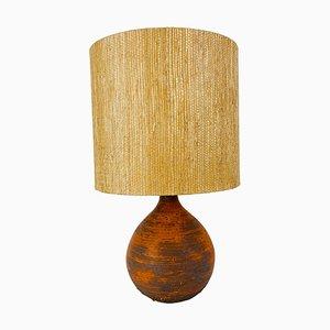 Lampada da tavolo Mid-Century con base in ceramica, anni '60