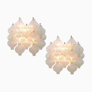 Tulip Sconces by J.T. Kalmar, 1970s, Set of 4
