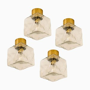 Cube Flush Mount Lamp or Wall Sconce by J.T. Kalmar, 1960s