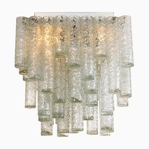 Square Flush Mount Chandelier from Doria, 1960s