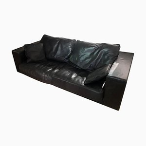 Black Leather Budapest Elephant Sofa by Paola Navone for Baxter, 2003