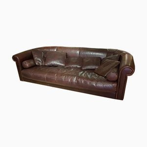 Brown Leather Model Alfred Sofa from Baxter, 2007