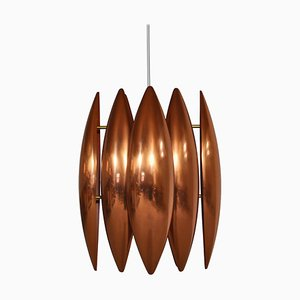 Danish Modern Copper Pendant Lamp by Jo Hammerborg for Fog & Mørup, 1960s