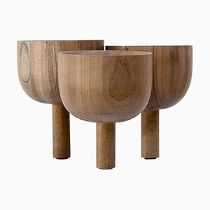 Triple Tray 2.0 in African Walnut by Arno Declercq