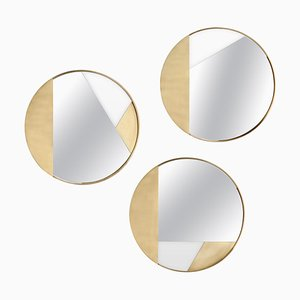 Kleine Messing Spiegel von Edizione Limitata, 3er Set